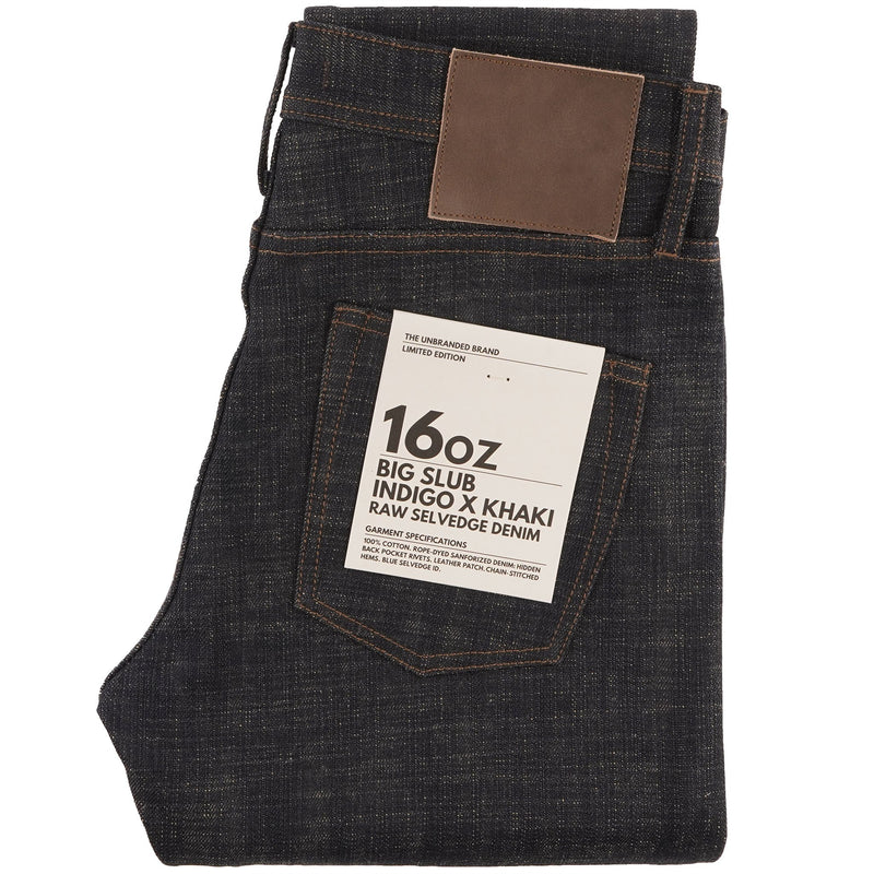 UB473 Tight Fit 16oz Slubby Selvedge Denim with Khaki Weft - main