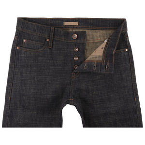 UB473 Tight Fit 16oz Slubby Selvedge Denim with Khaki Weft - front