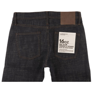 UB473 Tight Fit 16oz Slubby Selvedge Denim with Khaki Weft - back