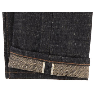 UB473 Tight Fit 16oz Slubby Selvedge Denim with Khaki Weft - hem
