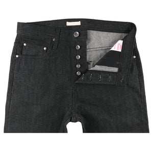 UB604 Relaxed Tapered Fit 14.5oz Black Selvedge Denim