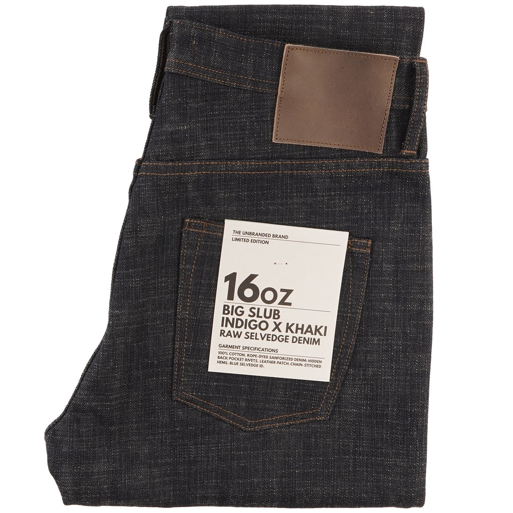 UB673 Relaxed Tapered Fit 16oz Slubby Selvedge Denim with Khaki Weft - main