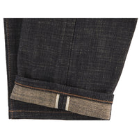 UB673 Relaxed Tapered Fit 16oz Slubby Selvedge Denim with Khaki Weft - hem