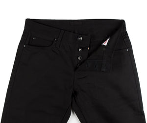 UB155 Skinny Fit 12.5oz Black Selvedge Chino