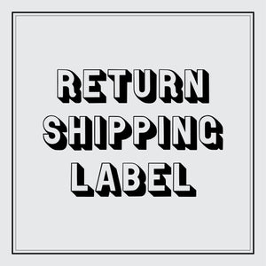 Return Shipping Label - International