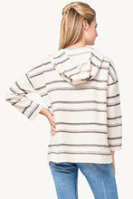 Load image into Gallery viewer, Striped Terry Twill Hoodie