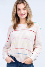 Load image into Gallery viewer, Summer Stripe Sweater