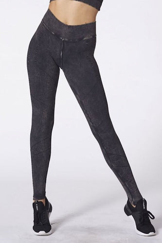 One By One Legging, black mineral wash