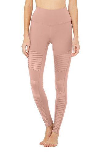 High-Waist Moto Legging, smoky quartz