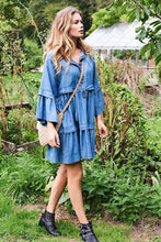 Load image into Gallery viewer, Flounce Denim Dress