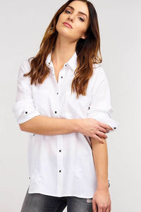 Stitched Stars Shirt, white