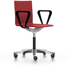 .04 Chair By Vitra task chair Vitra with armrests + $170.00 Bright Red Hard Caster (Wheels) For Carpet - No Brakes