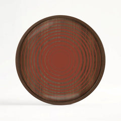 Circles Glass Valet Tray - Wooden Rim - Round - M
