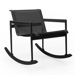 1966 Single Rocker lounge chair Knoll Onyx with Onyx Mesh & Strap