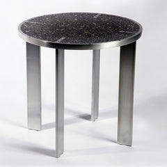 "Hatch Side Table side/end table Jesse Brody Design Studios 15.5"" tall Black/Grey"