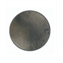 Bronze Wall Mirror Heavy Aged Wooden Frame Round