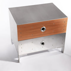 Fleet Night Stand - Aluminum side/end table Jesse Brody Design Studios