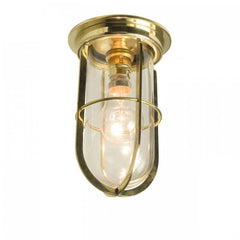 Ship's Well Glass Ceiling Light with Guard