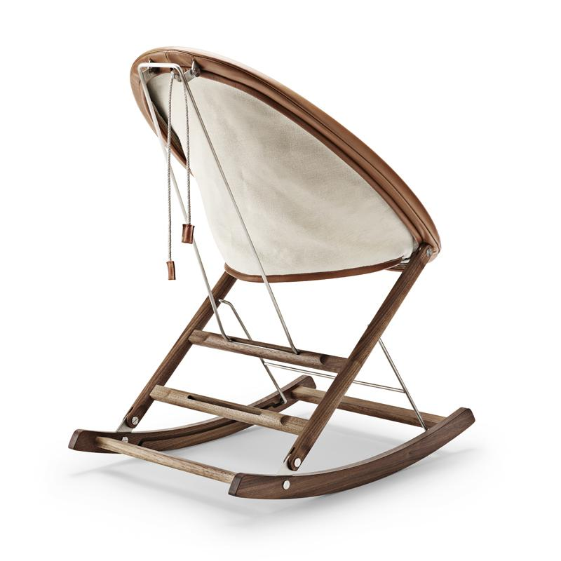 Wondrous Ab001 Rocking Nest Chair With Leather Front Canvas Back Onthecornerstone Fun Painted Chair Ideas Images Onthecornerstoneorg