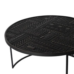 Ancestors Tabwa Round Nesting Coffee Table Set of 3 Coffee Tables Ethnicraft