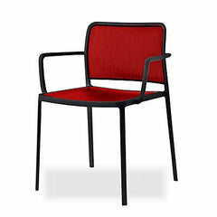Audrey Soft Side/Dining Kartell Painted Black Red With Arms +$278.00