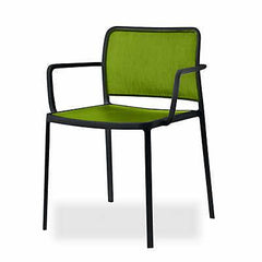 Audrey Soft Side/Dining Kartell Painted Black Acid Green With Arms +$278.00