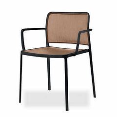 Audrey Soft Side/Dining Kartell Painted Black Beige With Arms +$278.00