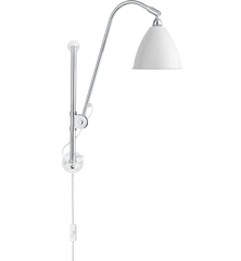 BL5 Wall Lamp - Electrical Cord wall / ceiling lamps Gubi Chrome/Matte White