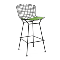 Bertoia Stool with Seat Pad bar seating Knoll Polished Chrome Counter Height Aegean Classic Boucle