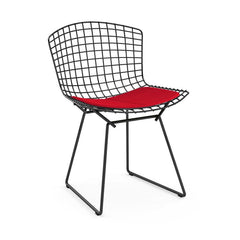 Bertoia Side Chair with Seat Pad Side/Dining Knoll Black Journey - Chime