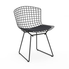 Bertoia Side Chair with Seat Pad Side/Dining Knoll Black Haze - Anthracite
