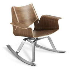 Buttercup Rocker by Blu Dot rocking chairs BluDot Walnut / Stainless Steel