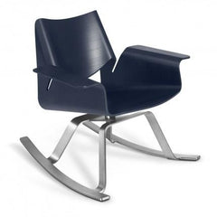 Buttercup Rocker by Blu Dot rocking chairs BluDot Midnight on Ash / Stainless Steel
