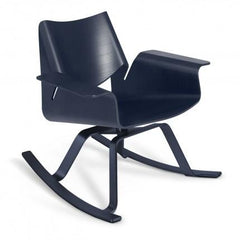 Buttercup Rocker by Blu Dot rocking chairs BluDot Midnight on Ash / Dark Blue