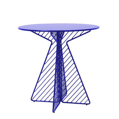 Cafe Table Tables Bend Goods Electric Blue Round