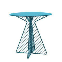 Cafe Table Tables Bend Goods Peacock Blue Round