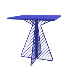 Cafe Table Tables Bend Goods Electric Blue Square