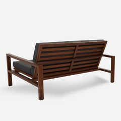 Case Study Outdoor Teak Loveseat - Upholstered