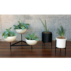 Case Study Ceramic Bowls With Metal Tri-Stand - Medium Outdoors Modernica