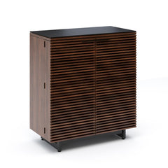 Corridor Compact Home Bar storage BDI Chocolate Stained Walnut