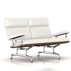 Eames 2-Seat Sofa by Herman Miller Sofa herman miller Teak + $650.00 Ivory Leather