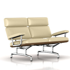 Eames 2-Seat Sofa by Herman Miller Sofa herman miller Teak + $650.00 Wheat Leather