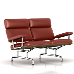 Eames 2-Seat Sofa by Herman Miller Sofa herman miller Teak + $650.00 Canyon Leather