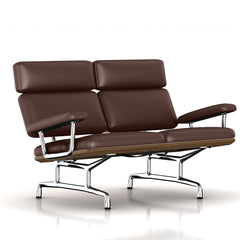 Eames 2-Seat Sofa by Herman Miller Sofa herman miller Teak + $650.00 Tobacco Leather