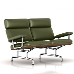 Eames 2-Seat Sofa by Herman Miller Sofa herman miller Teak + $650.00 Olive Leather