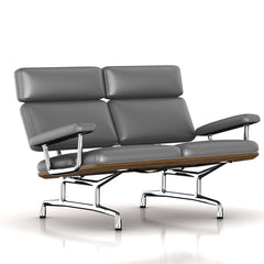 Eames 2-Seat Sofa by Herman Miller Sofa herman miller Teak + $650.00 Smoke Leather