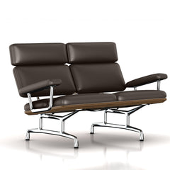 Eames 2-Seat Sofa by Herman Miller Sofa herman miller Teak + $650.00 Mink Leather