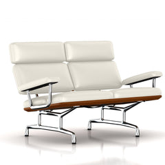 Eames 2-Seat Sofa by Herman Miller Sofa herman miller Walnut Pearl White MCL Leather + $420.00
