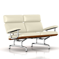 Eames 2-Seat Sofa by Herman Miller Sofa herman miller Walnut Ivory MCL Leather + $420.00