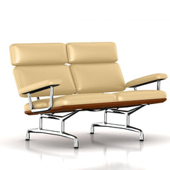 Eames 2-Seat Sofa by Herman Miller Sofa herman miller Walnut Almond MCL Leather + $420.00